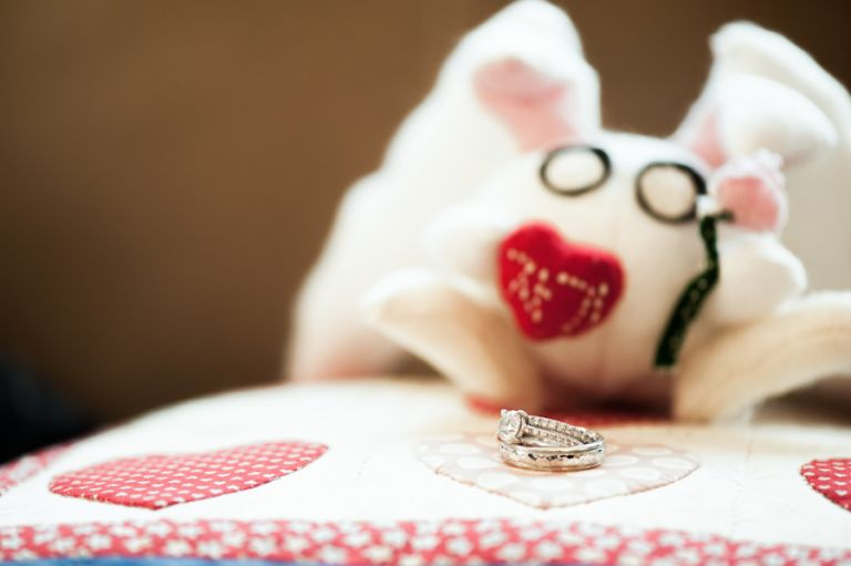Hae-Yoon and Bernard's wedding rings. Captured by awesome New York City Wedding Photographer Ben Lau.
