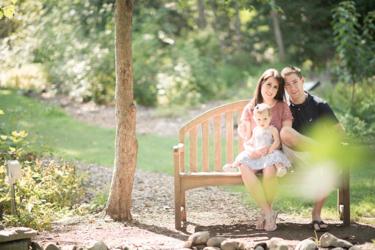 Jessica, Shawn and Peyton pose during the family session in New Brunswick, NJ with Ben Lau Photography.