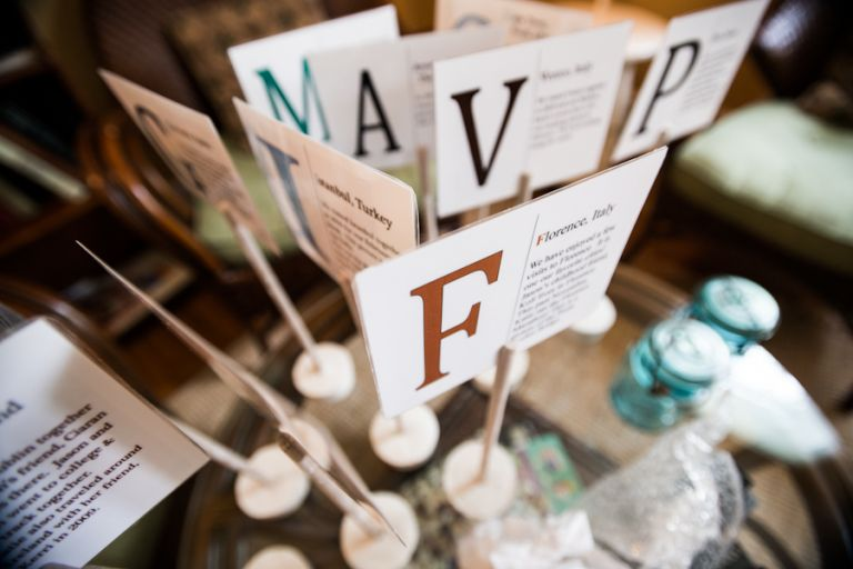 Table cards for Katie and Jason's wedding at the Ram's Head Inn on Shelter Island captured by New Jersey Wedding Photographer Ben Lau.