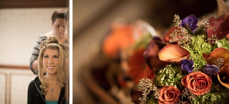 Bride preps for her wedding at the Madison Hotel in Morristown, NJ. Captured by NJ wedding photographer Ben Lau.