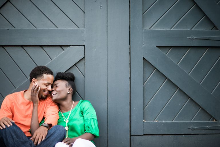 Esther and Erik's engagement session in Old Town Alexandria with Ben Lau Photography.
