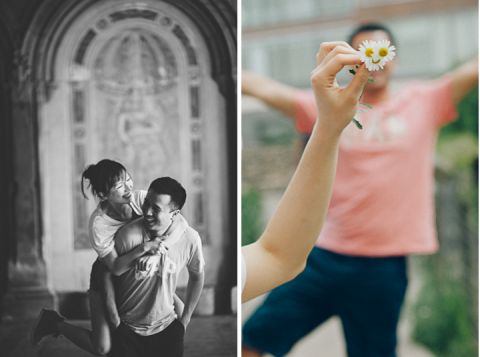 Jayson and Nick's portrait session with NYC wedding photographer Ben Lau.