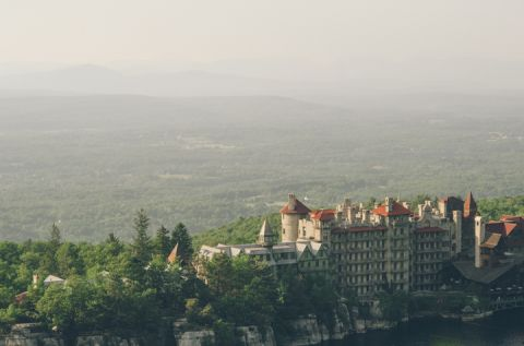 Mohonk Mountain House in New Paltz, NY. Captured by NYC wedding photographer Ben Lau.