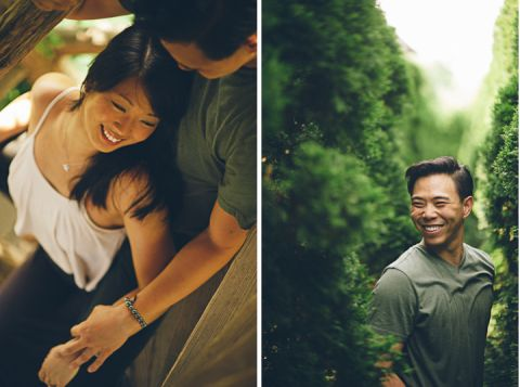 Engagement session inside the Hedge Maze at Mohonk Mountain House in New Paltz, NY. Captured by NYC wedding photographer Ben Lau.