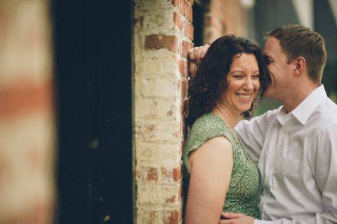 Lindsay and Justin in Mt. Washington during their Baltimore engagement session with NJ wedding photographer Ben Lau.