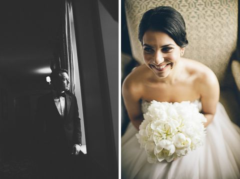 Bride and groom solo portraits on their wedding day at the Castle on the Hudson. Captured by NYC wedding photographer Ben Lau.