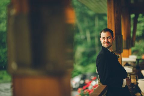 Bride and groom portraits at the Stone House in Stirling Ridge. Captured by NJ wedding photographer Ben Lau.