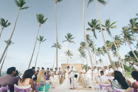 Wedding day at the NOW Larimar Resort in Punta Cana. Captured by destination wedding photographer Ben Lau.