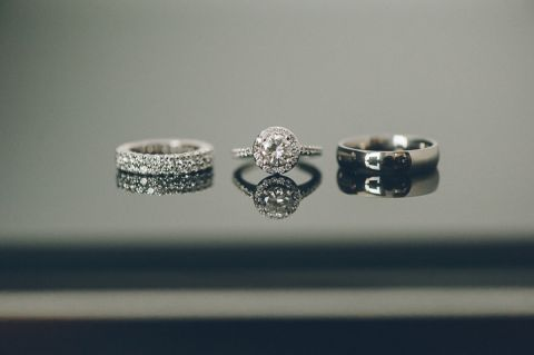 Wedding rings for a Tribeca Rooftop Wedding captured by NYC wedding photographer Ben Lau.