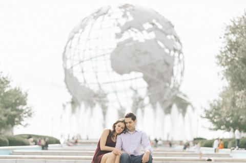 Flushing Meadows Engagement Session | Jessica & Jon