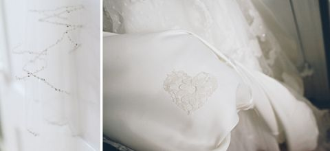Dress and lace shot for a Westmount Country Club wedding captured by NYC wedding photographer Ben Lau.