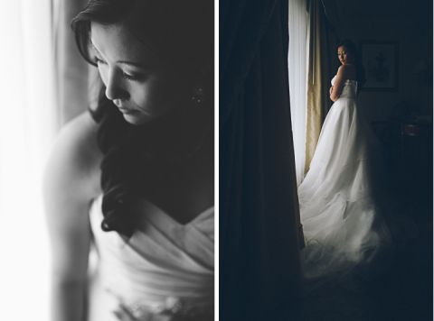 Bridal portraits on the morning of Winny and Conan's wedding at the Ritz Carlton in San Francisco.