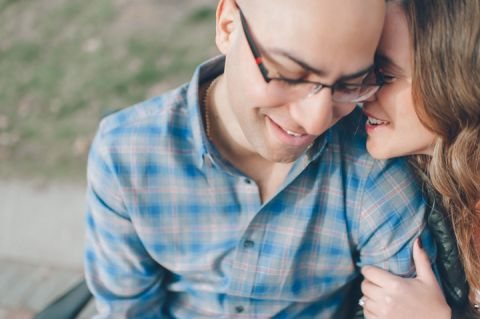 Cyndi & Jon during their engagement session in Jersey City with NJ wedding photographer Ben Lau.