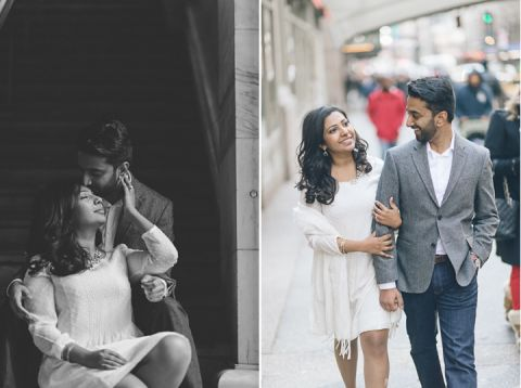 NYC Engagement Session at High Line Park captured by NYC wedding photographer Ben Lau.