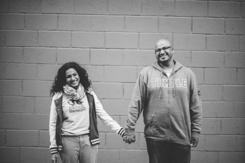 Philadelphia engagement session captured by awesome NJ wedding photographer Ben Lau.
