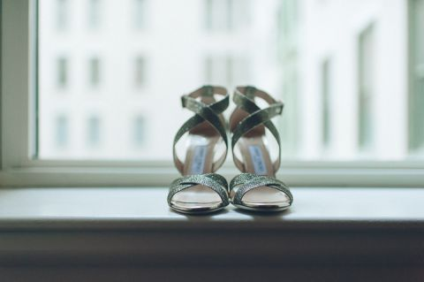 Wedding shoes for a New York City Hall wedding, captured by NYC wedding photographer Ben Lau.