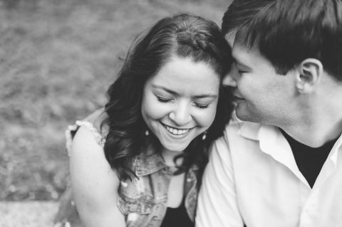 Alina smiles during her engagement session in Baltimore with NJ wedding photographer Ben Lau.