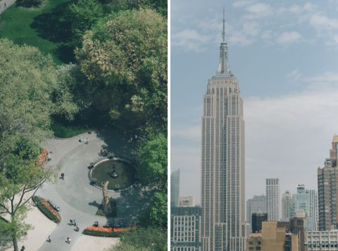 View from an apartment in the Flatiron District. Captured by NYC wedding photographer Ben Lau.