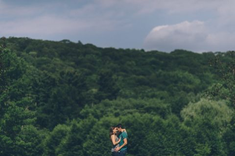 Julie & Tim's engagement session at the NJ Botanical Gardens and Hudson Valley, captured by Northern NJ Wedding Photographer Ben Lau.