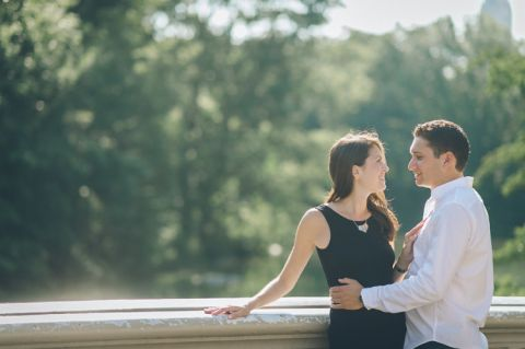 Central Park and High Line Park Engagement Session captured by NYC wedding photographer Ben Lau.