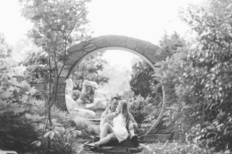 Charlotte engagement session captured by NJ wedding photographer Ben Lau.