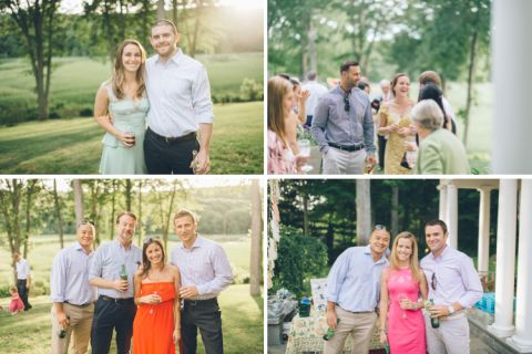 Rehearsal dinner for a wedding at the Florence Griswold Museum in Old Lyme, CT. Captured by NYC wedding photographer Ben Lau Photography.