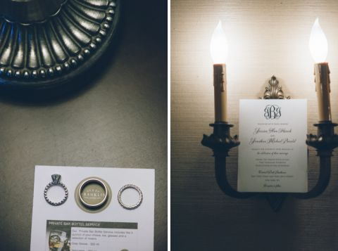 Stationery and ring shot for a wedding at the Central Park Boathouse. Captured by NYC wedding photographer Ben Lau.