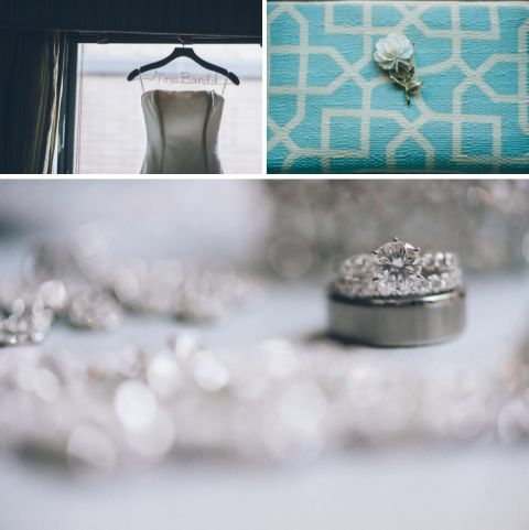 Bride details for her wedding at the Central Park Boathouse. Captured by NYC wedding photographer Ben Lau.