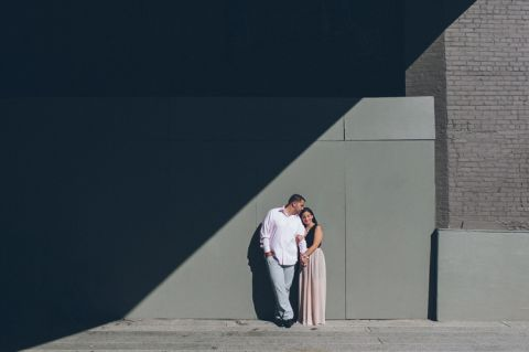 Engagement session in the Meatpacking District and High Line Park. Captured by NYC wedding photographer Ben Lau.