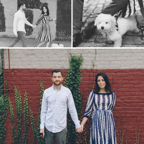 Engagement session in Queens, NY. Captured by NYC wedding photographer Ben Lau.