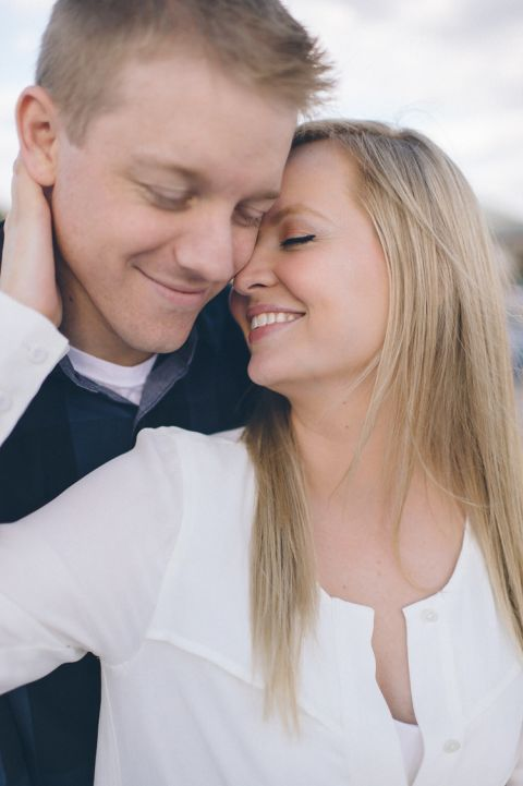 Engagement session at Penn State. Captured by NYC wedding photographer Ben Lau.