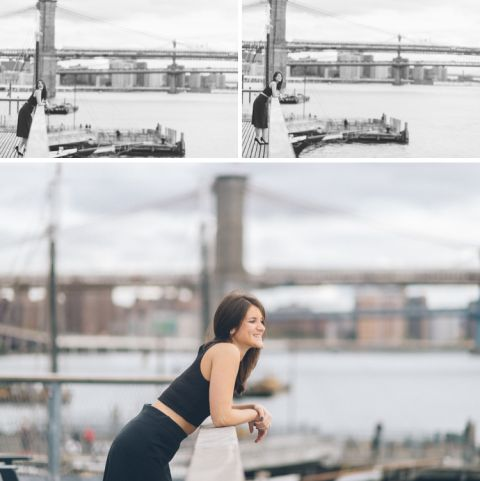 NYC Engagement Session in the Lower East Side. Captured by NYC wedding photographer Ben Lau.