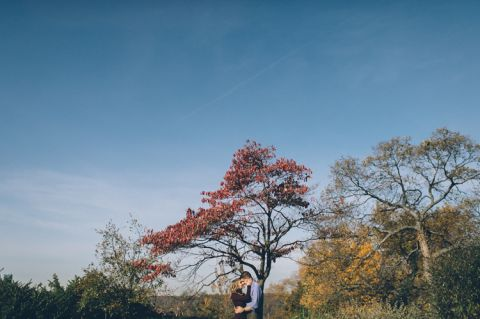 Lauren & Steve's NYC engagement session. Captured by NYC wedding photographer Ben Lau.