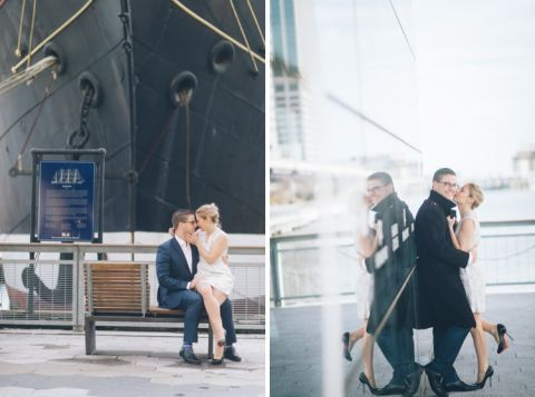 Kristen & Martin's NYC engagement session captured by NYC wedding photographer Ben Lau.