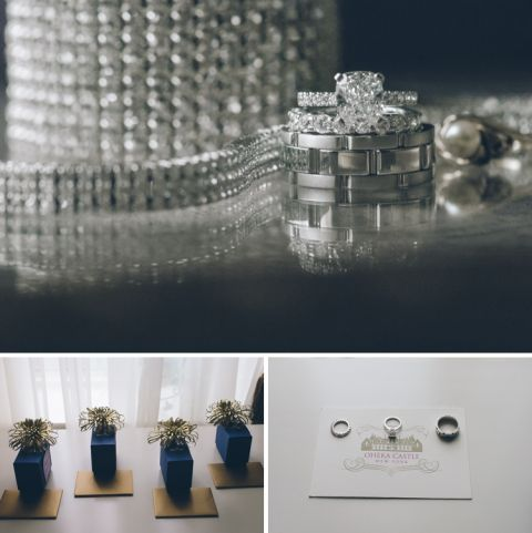 Wedding jewelry for an Oheka Castle wedding in Long Island, NY. Captured by NYC wedding photographer Ben Lau.