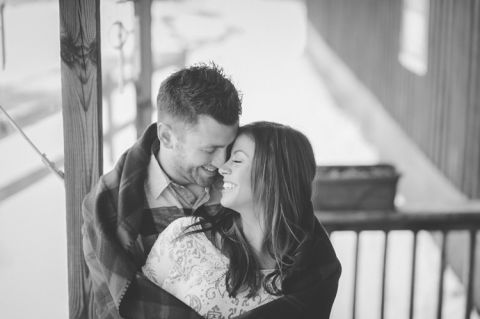 Snowy engagement session in NJ, captured by NJ wedding photographer Ben Lau.