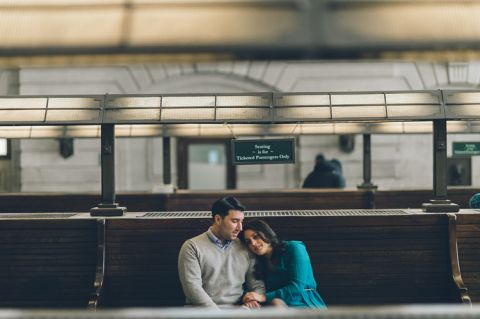 Hoboken & Jersey City Engagement Session captured by NJ Wedding Photographer Ben Lau.