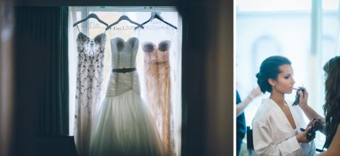 Wedding details for a Seaport Hotel wedding in Boston, MA. Captured by NYC wedding photographer Ben Lau.