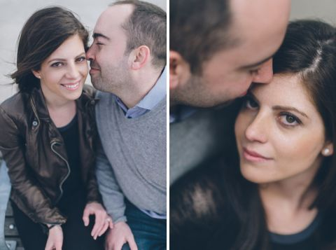 Brooklyn engagement session in DUMBO and Williamsburg, captured by NJ wedding photographer Ben Lau.