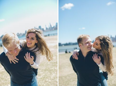 Brooklyn & Jersey City Engagement session captured by NYC wedding photographer Ben Lau.