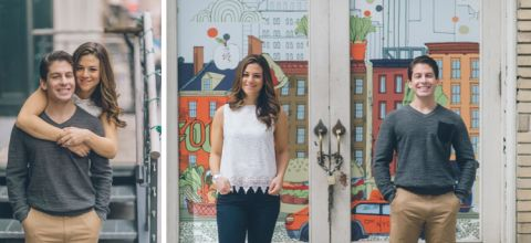 South Street Seaport engagement session captured by NYC wedding photographer Ben Lau.