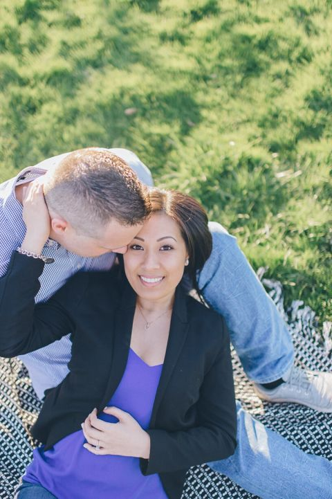 NJ Cherry Blossoms engagement session in Branch Brook Park captured by NJ wedding photographer Ben Lau.