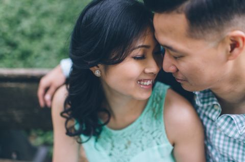 Roosevelt Island engagement session in NYC captured by NYC wedding photographer Ben Lau.