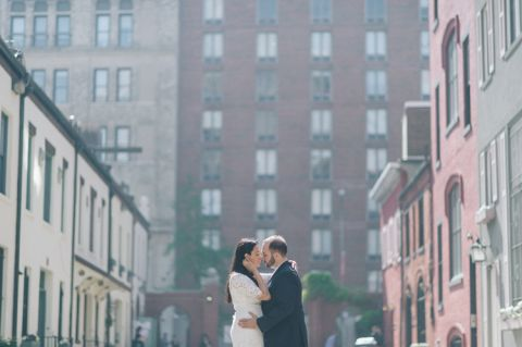 NYC engagement session in Washington Square Park captured by NYC wedding photographer Ben Lau.