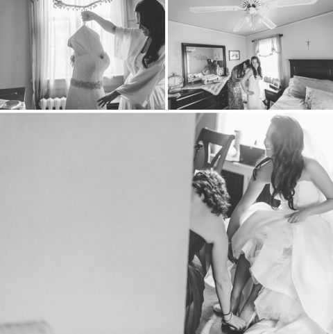 Bride preps for a wedding at the Riviera in Massapequa, captured by NYC wedding photographer Ben Lau.