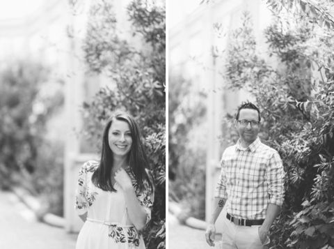 Green, natural engagement session in Central NJ captured by Northern NJ wedding photographer Ben Lau.