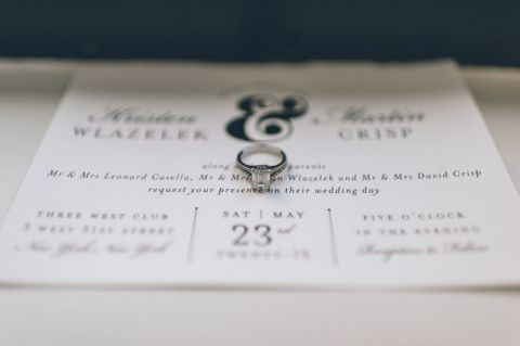 Wedding details for a 3 West Club Wedding in NYC, captured by NYC wedding photographer Ben Lau.