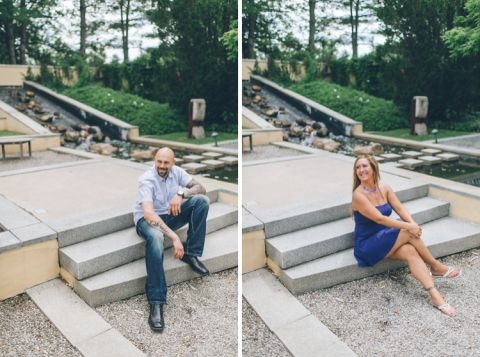 Sculpture Garden Engagement Session in Princeon, NJ | Ben Lau Photography