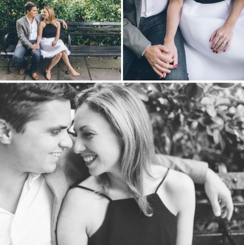 Central Park engagement session captured by NYC wedding photographer Ben Lau.