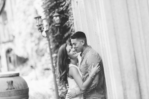 NJ Botanical Garden engagement session at Skylands Manor, captured by North Jersey wedding photographer Ben Lau.